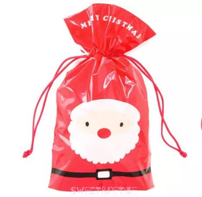 預購MA103❤(M)10入聖誕老人與雪人雙面造型禮物束口袋❤ 聖誕節 禮物袋 聖誕派對 聖誕交換禮物袋 聖誕老公公