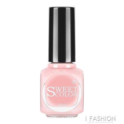 Sweet Color指甲油裸色 無毒持久不可剝防水不掉色秋冬色透明粉色