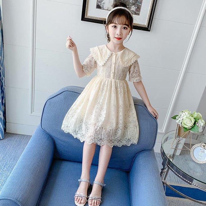 •*~ 辣媽咪衣飾小舖 ~*•❤童裝系列❤K340424韓版大童夏款甜美浪漫小女孩洋氣時尚超仙公主款洋裝