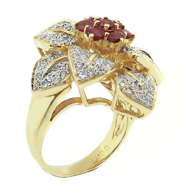 【JHT 金宏總珠寶/GIA鑽石專賣】1.30ct天然紅寶鑽戒/材質:18K(JB41-D42)