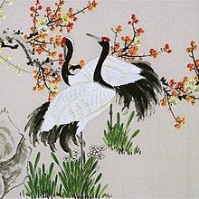 名人 字畫 凌雪 手繪國畫水墨工筆畫  花鳥 仙鶴