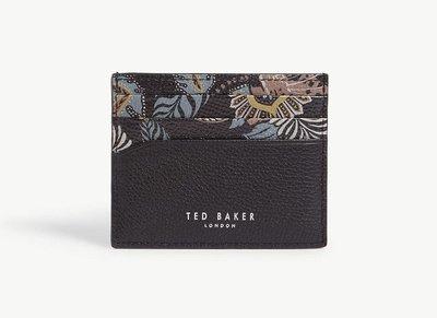 (預購)英國TED BAKER Plated printed leather cardholder 特殊彩繪皮革卡夾