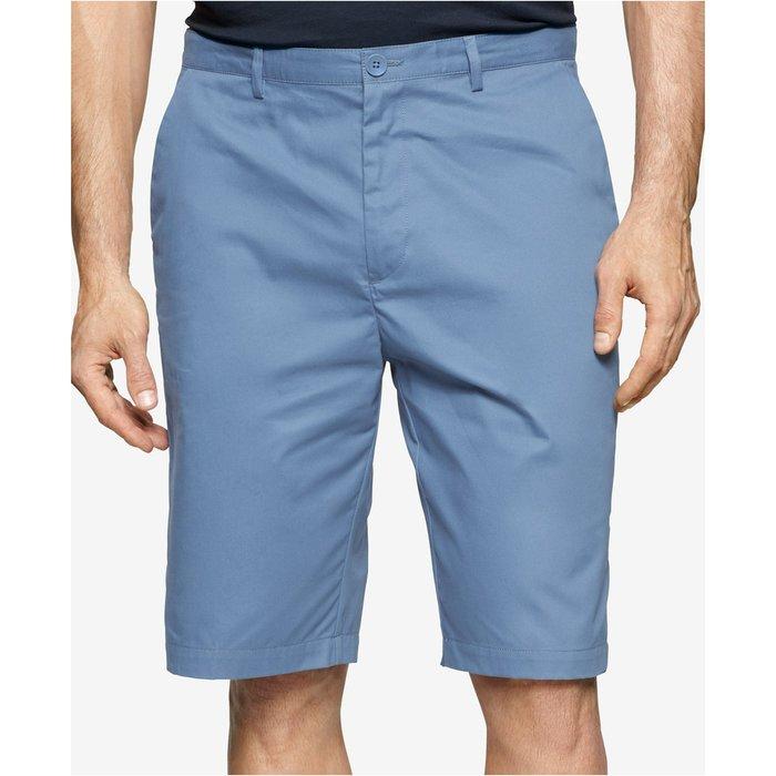 美國百分百【全新真品】Calvin Klein 短褲 CK 休閒褲 褲子 色褲 五分褲 素色 藍灰色 大尺碼 G521
