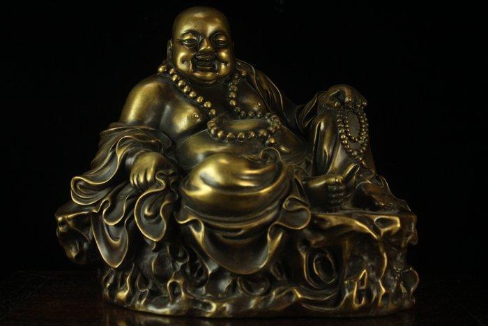 悅年堂 --- 銅 持珠 彌勒佛 擺件