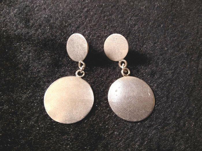 925手工銀飾耳環 圓圓滿滿~錢滾錢~手工創作銀飾都不像機器做的那麼平整~純自然美感~