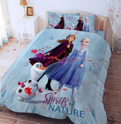 正版授權 迪士尼 FROZEN 冰雪奇緣 艾莎 安娜 雪寶 秋日之森款 標準雙人床包 雙人床包組 雙人床包 床包 寢具 5*6....