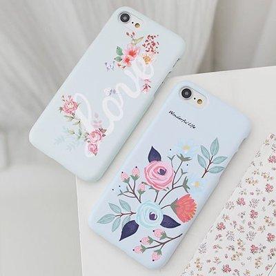 韓國 玫瑰花 硬殼 手機殼│S7 Edge S8 S9 S10 S10e│z7987