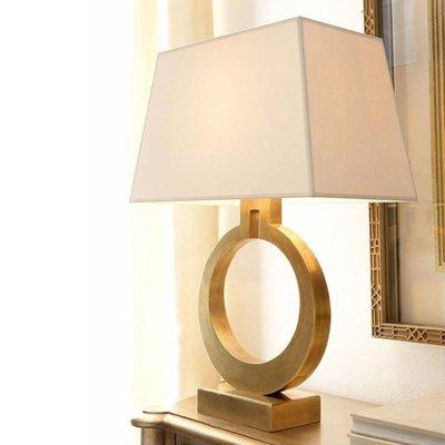 金色臺燈臥室床頭簡約個性現代床頭燈客廳臺燈遙控可調光溫馨燈具 MKS小物標