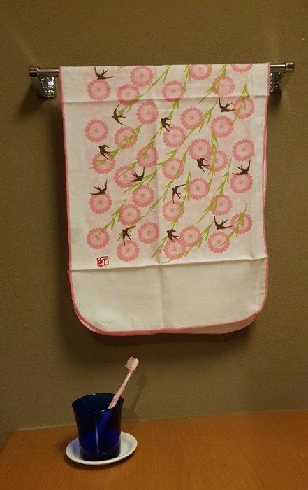 ☆°萊亞生活館 ° 602 雙層紗 紗布手帕長巾-燕子 100%棉 台灣製造