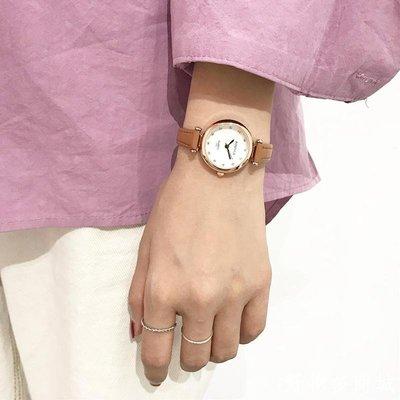 好物多商城 閨蜜小清新款百搭女生手表韓版學生潮女簡約大方森女系防水皮帶款