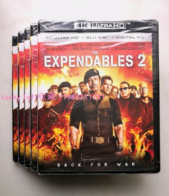 Lucky 1of1收藏正版藍光BD The Expendables 2 敢死隊2 4K UlHD 2碟 英字 US