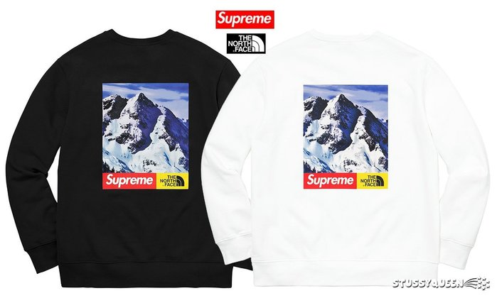 【超搶手】現貨2017 Supreme The North Face Mountain Crewneck 雪山大學服衛衣