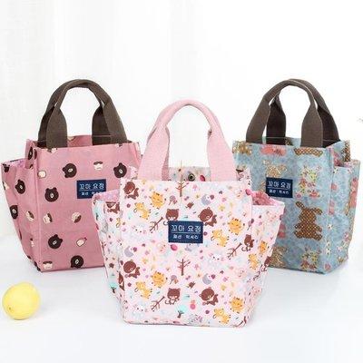 便當袋帶飯手提袋子帆布媽咪包飯盒包韓版午餐便當包拎裝飯盒袋的手提包OY9444