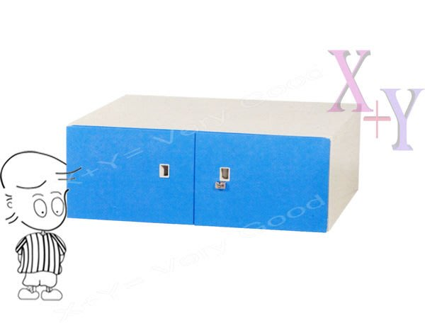 【X+Y時尚精品傢俱】藍色32 雙開門上置式鋼製公文櫃.理想櫃適合學校. 公司.台南市家具