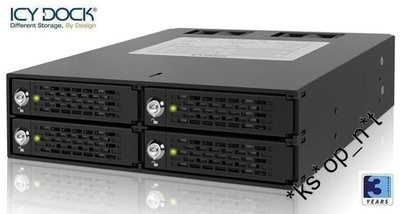 "{MPower} 台灣名廠 ICY Dock MB994SK-1B 4 Bay 2.5"" SATA SAS HDD Mobile Rack (內置風扇) - 原裝行貨"