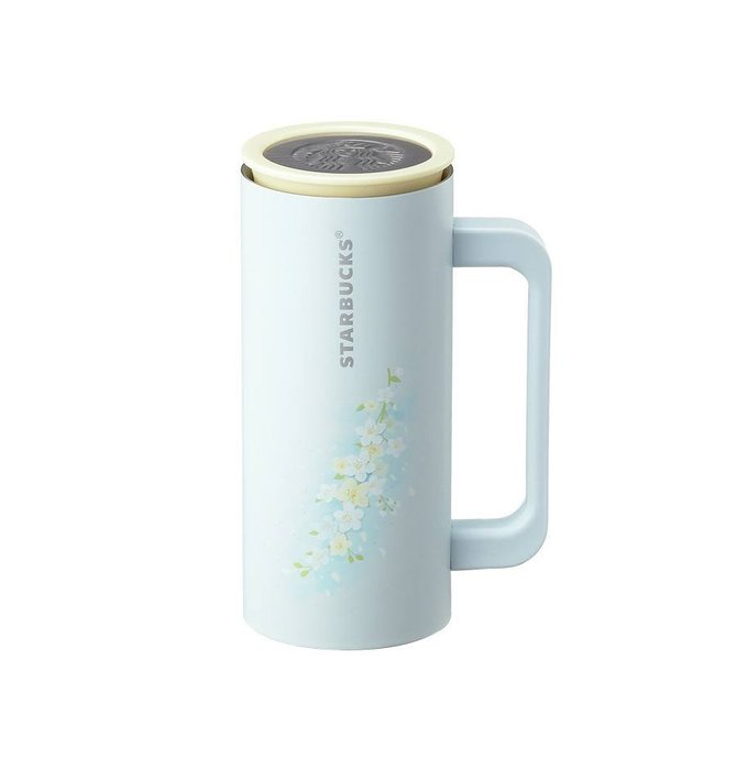 【現貨】韓國星巴克 2019春天黃綠色金鐘花&花園系列--Newton小玫瑰不鏽鋼隨行杯355ml