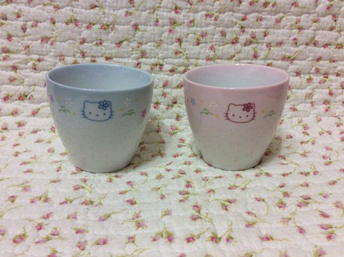 Sanrio hello kitty 夫妻對杯/情侶對杯/茶杯/手握杯/泡茶杯《2001年商品》特價出清