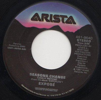 7吋單曲黑膠唱片《 Expose - Seasons Change 》美版、45轉