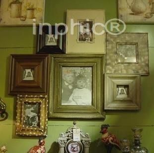 INPHIC-複古法式鄉村實木照片牆相片牆 整體相框組合 超大幅