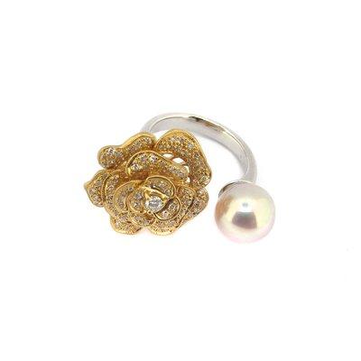 【JHT金宏總珠寶/GIA鑽石專賣】天然珍珠戒指/材質:18K(JB46-A37)
