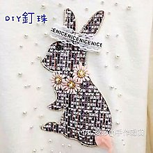 『ღIAsa 愛莎ღ手作雜貨』手縫高檔刺繡布貼兔子熊手工訂花衣服裝飾圖案花大號補丁時尚補貼