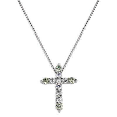 【JHT金宏總珠寶/GIA鑽石專賣】 天然十字架鑽石項鍊/材質:PT900/PT850(鍊)(JB50-A17)