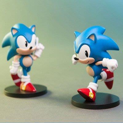 手辦電影出品 正版Sonic刺猬索尼克手辦擺動姿勢音速小子模型擺件玩具
