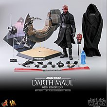 现货會場特别版HT The Darth Maul & Sith Speeder w/ bonus part DX17B赤武神有車HOTTOYS HOT TOYS