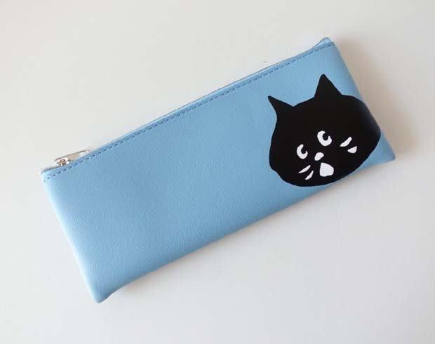 [瑞絲小舖]~日雜2020年5月號增刊號限定版附錄Ne-Net nya黑貓藍色PU皮革小物包 收納包 化妝包 筆袋