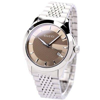 GUCCI 古馳 手錶 G-Timeless 系列 義大利 極簡 對錶 大尺寸 YA126406