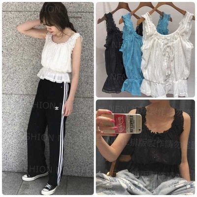 ☆NFNL☆ 日本專櫃品牌 UNGRID TODAYFUL風 神美自留款 休閒甜美風 外搭蕾絲罩衫小背心 KBF SLY