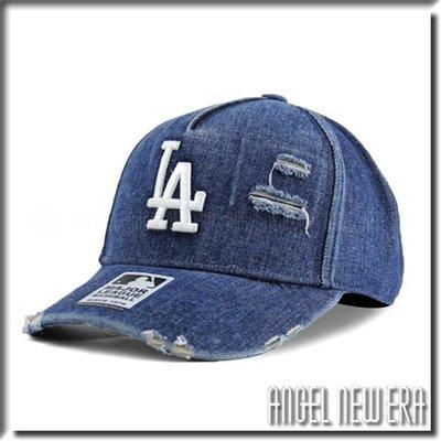 【ANGEL NEW ERA 】MLB Old Fashioned Cap LA 洛杉磯 道奇 丹寧 單寧 破壞 卡車帽