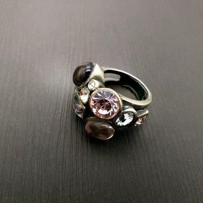 DYRBERG/KERN 粉晶協奏曲 丹麥設計珠寶戒指 打翻珠寶盒r37