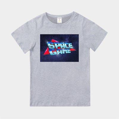 T365 MIT 親子裝 T恤 童裝 情侶裝 T-shirt 標語 話題 美式風格 slogan SPACE GAME