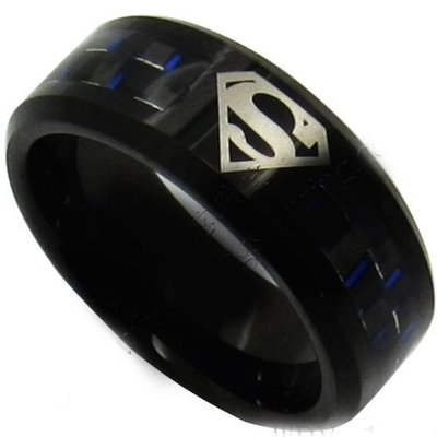 coi jewelry tungsten carbide superman wedding band ring 戒指with all sizes