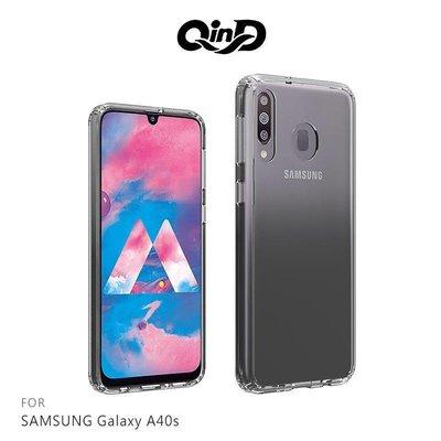 *Phone寶*QinD SAMSUNG Galaxy A40s 雙料保護套 硬殼 背蓋 透明殼 防摔殼