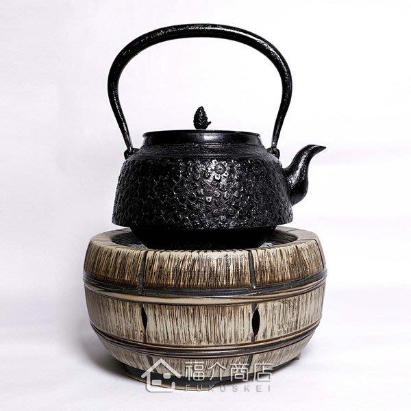 台灣手工製陶瓷黑晶面板遠紅外線電熱爐【薪旺】~手拉胚搭配鑄鐵茶壺-茶釜~