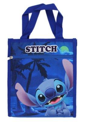 【卡漫迷】 Stitch 手提袋 藍 椰子樹 ㊣版 星際寶貝 史迪奇 餐袋 便當袋 手提包 防水 禮物袋 才藝袋 肩背包