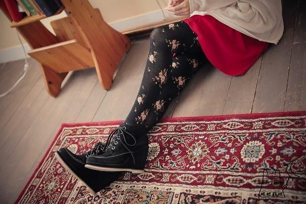 【拓拔月坊】日本知名品牌 M&M 漸層玫瑰花朵 厚褲襪 日本製~現貨!