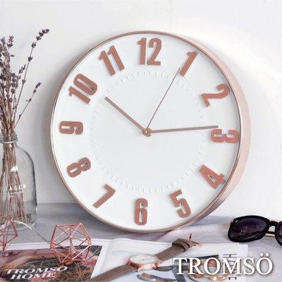 TROMSO紐約時代玫瑰金靜音時鐘-立...