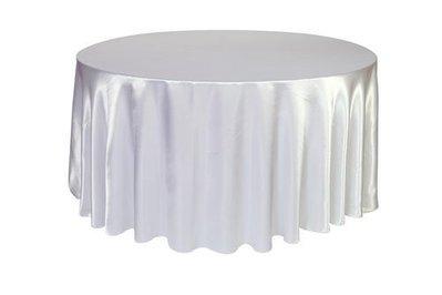 居家家飾設計 桌巾/圓檯布180cm圓 緞面布 一條起訂 適用60cm/90cm/120cm/150cm圓桌 雙針車邊