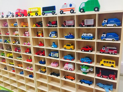 Audrey&Baby童裝 // 50格木框小汽車收納櫃 多美小車 tomica