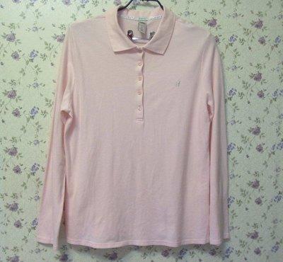 大尺碼 OLD NAVY 粉色長袖POLO棉衫r ~AJ衣飾7w-02