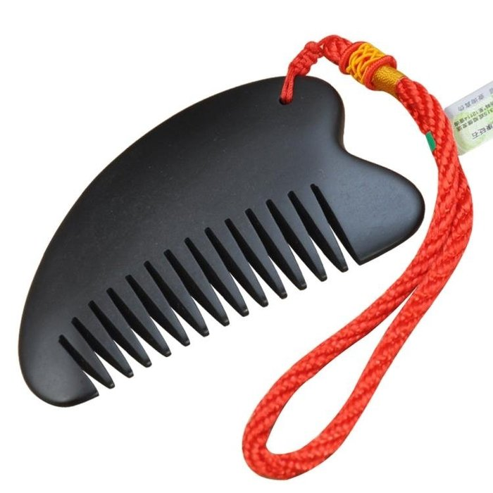 砭石刮痧板套裝梳子點穴棒家用頸部全身通用三件套牛角同仁堂 免運費