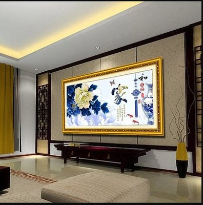 福貴青花瓷壁畫Blue and white porcelain murals