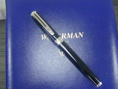 Waterman Exception 至尊 麗雅黑 銀夾 18K 鋼筆