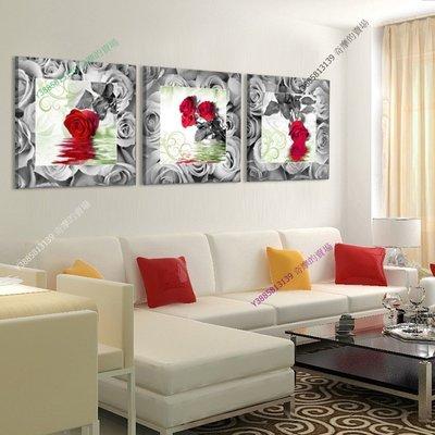 【60*60cm】【厚2.5cm】經典花卉-無框畫裝飾畫版畫客廳簡約家居餐廳臥室牆壁【280101_230】(1套價格)