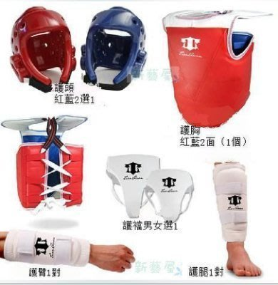 【易購生活館】天權 高檔加厚型跆拳道護具(5件套)一次定型頭盔(送護具包)套裝 拳擊泰拳散打搏擊訓練格鬥