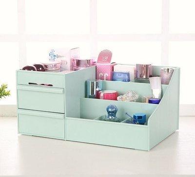 桌面化妝品收納盒抽屜式塑料桌面整理置物架( 後告知顏色)【滿千免運!】