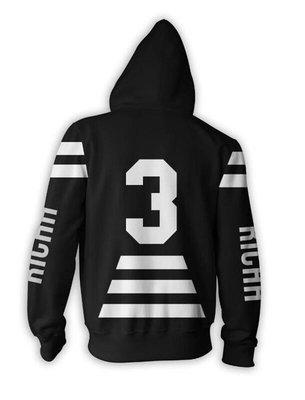 【 HYDRA】全新正品 Renowned 2014 秋冬RND SPACE Richh Hood 條紋 背號 帽T S M L XL